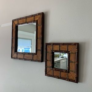 Vintage Wicker Rattan Mirrors